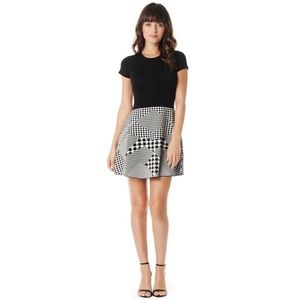Parker Houndstooth Black And White Knit Dress